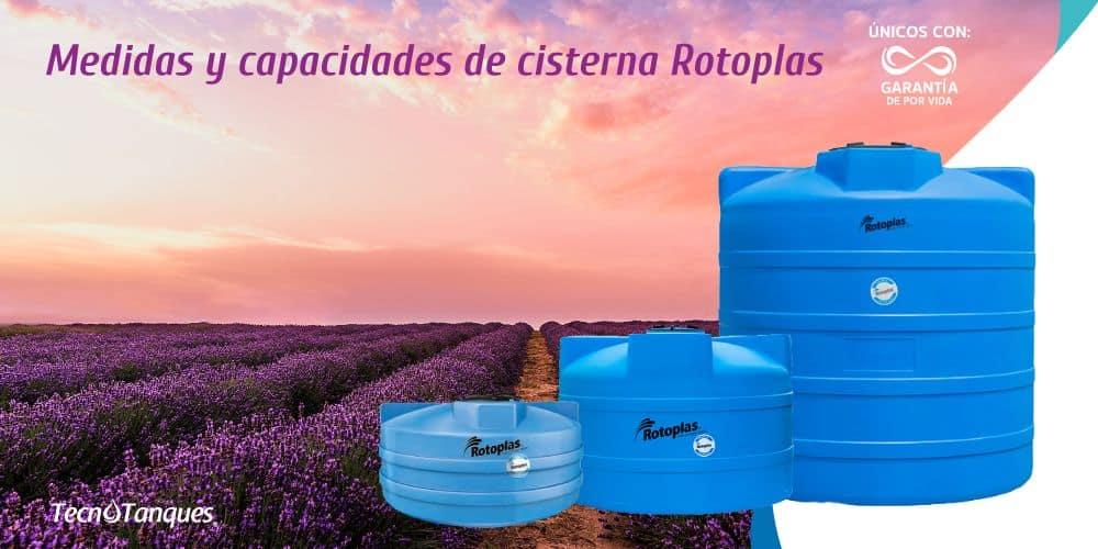 Medidas y Capacidades Cisterna Rotoplas